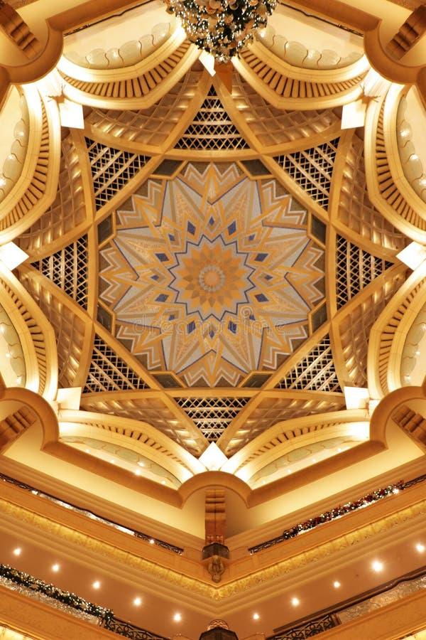 阿联酋阿布扎比酋长国宫殿 免版税库存照片