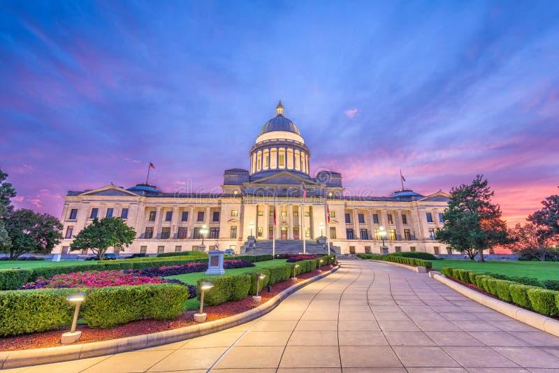 阿肯色国会大厦状态 库存图片