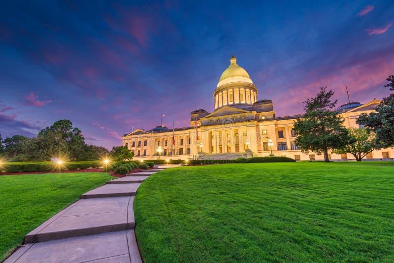 阿肯色国会大厦状态 免版税库存图片