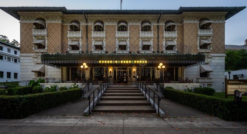 阿肯色州温泉城福迪斯浴场 免版税库存照片