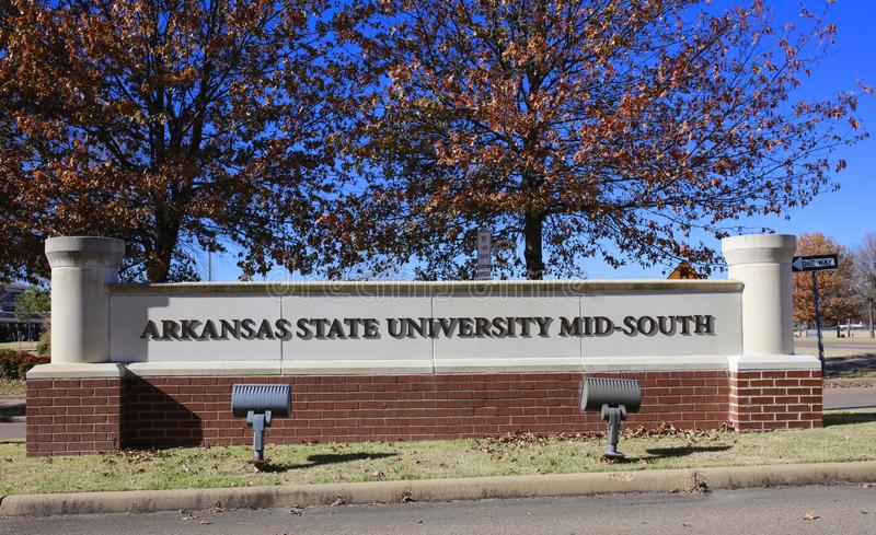 阿肯色州立大学中间南部,西部孟菲斯,阿肯色 免版税库存照片