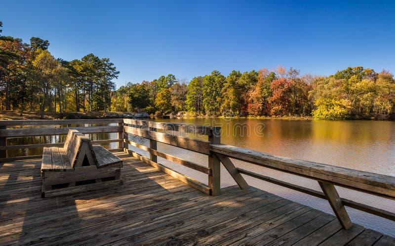 阿肯色秋天风景,小的吉恩国家公园 免版税库存图片