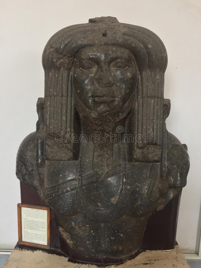 阿蒙涅姆赫特三世雕象作为教士的 库存照片