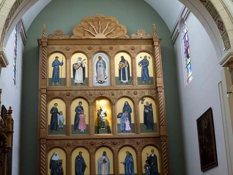 阿西西圣法兰西斯大教堂在圣菲新墨西哥美国 免版税库存图片