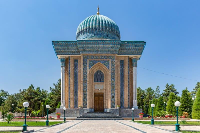 阿訇AlMatrudiy陵墓在撒马而罕,乌兹别克斯坦 免版税图库摄影