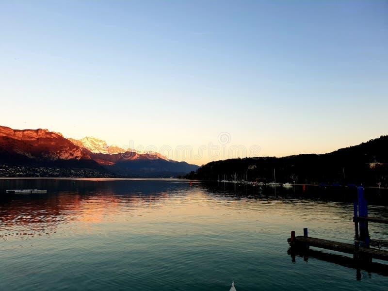 阿讷西,法国湖  库存图片