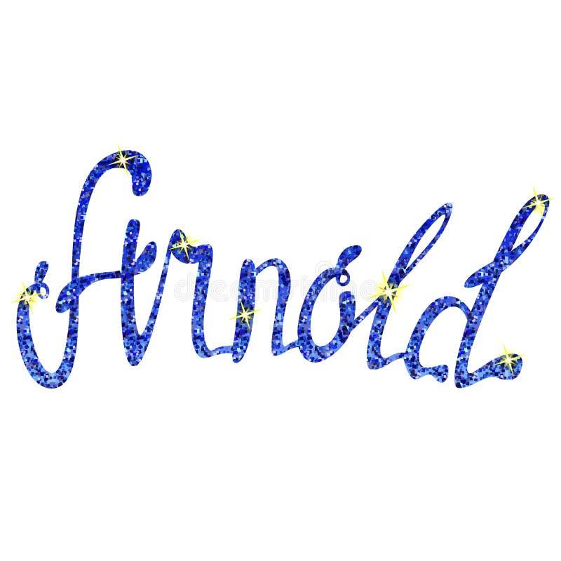阿诺德名字字法闪亮金属片 库存例证
