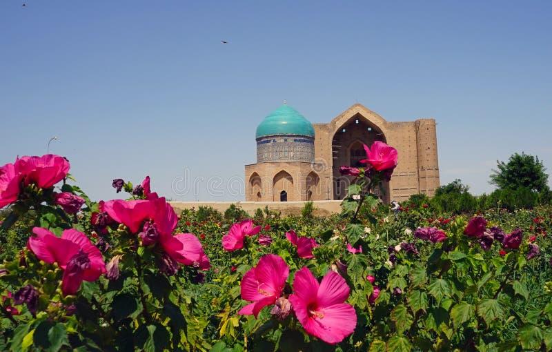 阿赫马德阿哈迈德Yasawi,土耳其斯坦,哈萨克斯坦陵墓  免版税库存图片