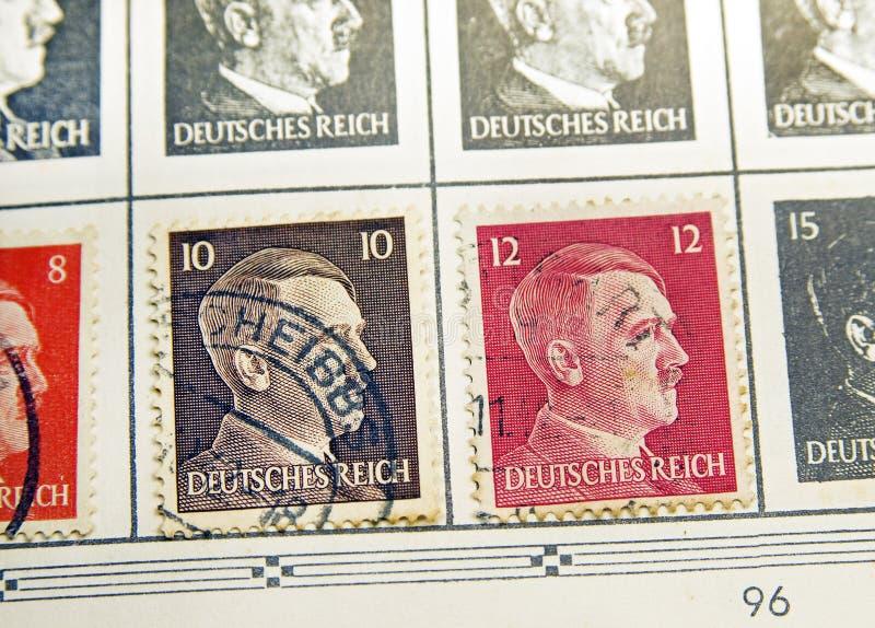阿道夫・希特勒邮票 免版税库存照片