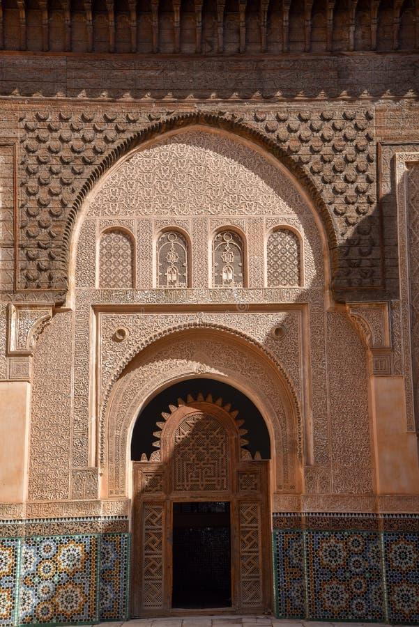 阿里本优素福马德拉斯,马拉喀什,摩洛哥 免版税库存照片