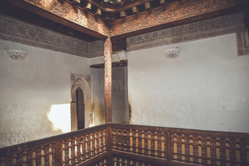阿里本优素福马德拉斯,马拉喀什,摩洛哥 免版税库存图片