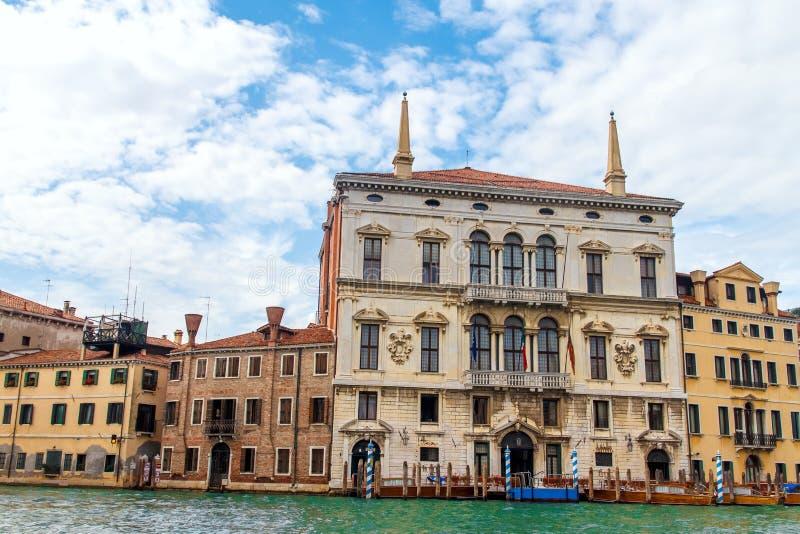 阿门洲运河重创的威尼斯,威尼托 图库摄影