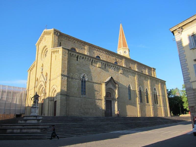 阿雷佐大教堂 库存图片