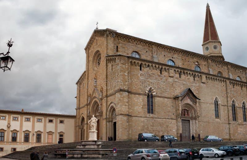阿雷佐意大利大教堂  免版税库存照片