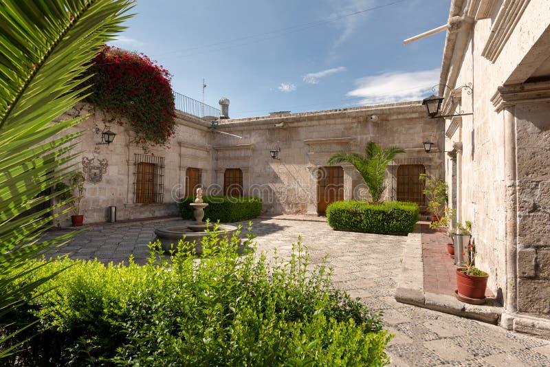 阿雷基帕,秘鲁传统西亚尔房子  免版税库存图片