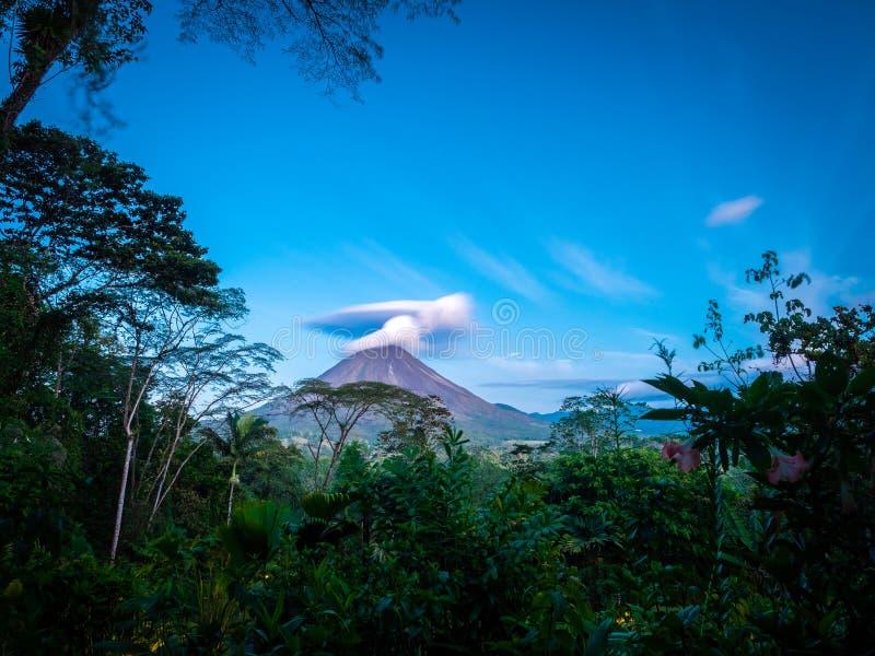 阿雷纳尔火山看法, 库存图片