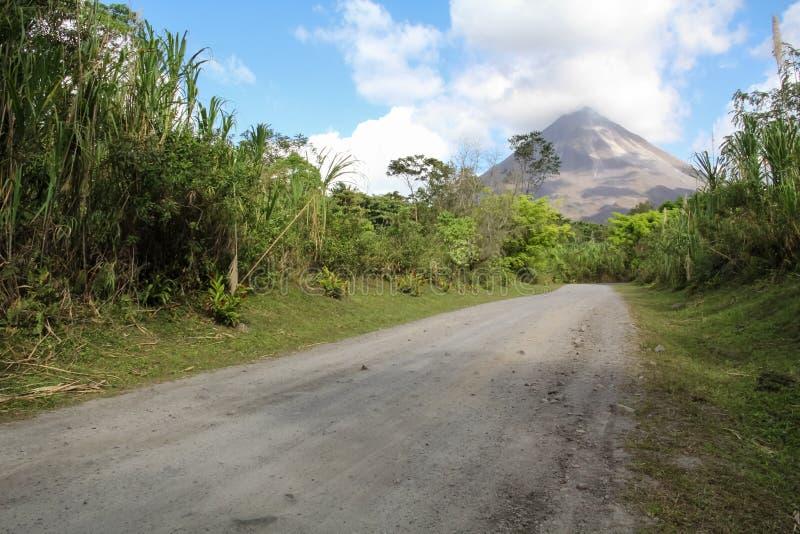 阿雷纳尔火山,哥斯达黎加 免版税库存图片