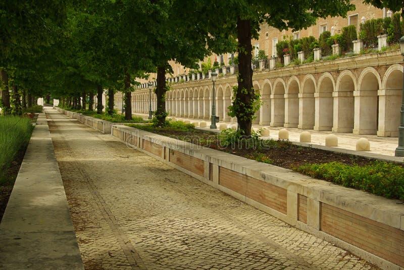 阿雷胡埃斯广场de圣安东尼奥 库存照片