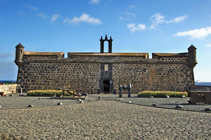 阿雷西费加那利群岛lanzarote 免版税库存照片