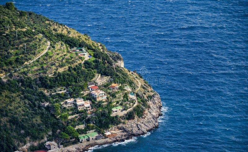阿马尔菲海岸,意大利的典型的房子 免版税库存图片