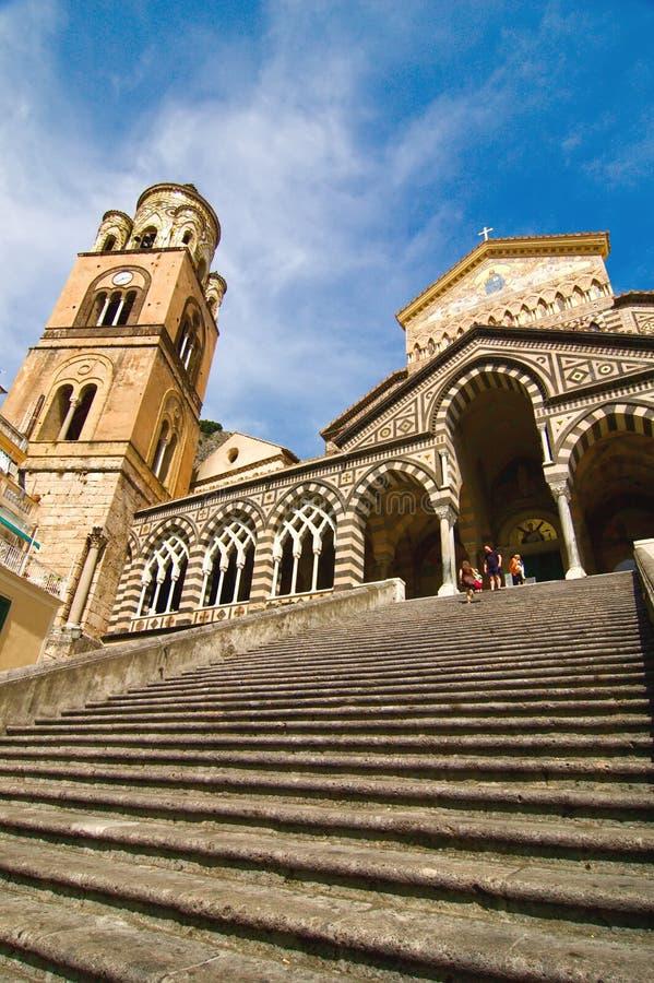阿马飞安德鲁斯大教堂意大利圣徒 免版税库存图片