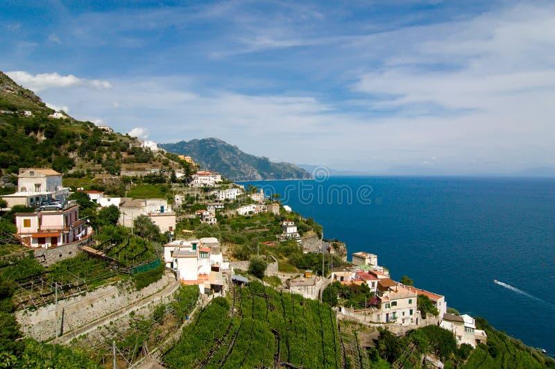 阿马飞海岸南部的意大利 免版税库存图片