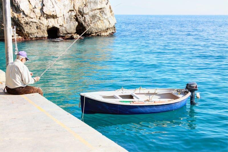 阿马飞海岸在意大利 免版税库存照片