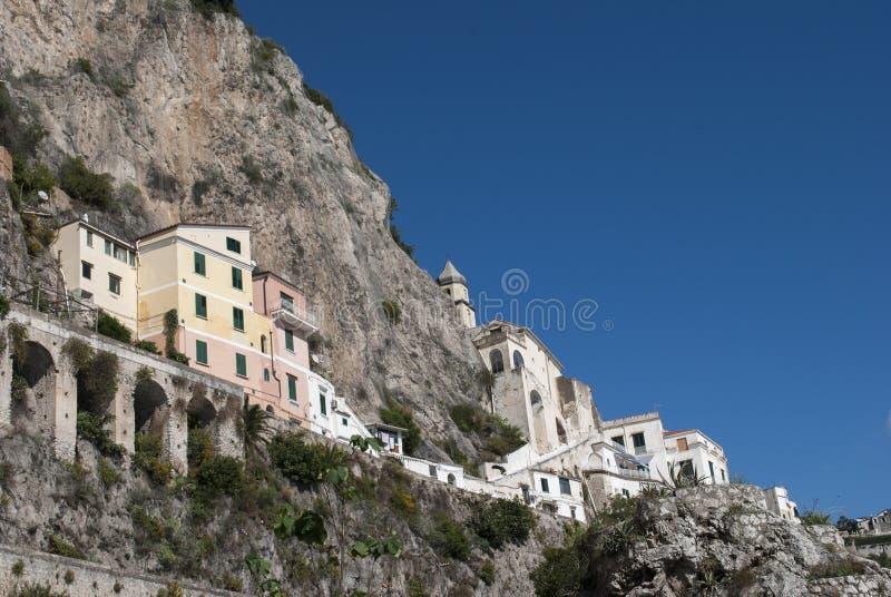 从阿马飞海岸,意大利的典型的房子 库存图片
