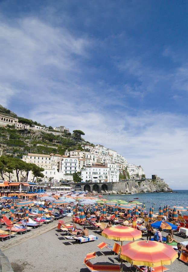 阿马飞海滩南部的意大利 免版税库存照片