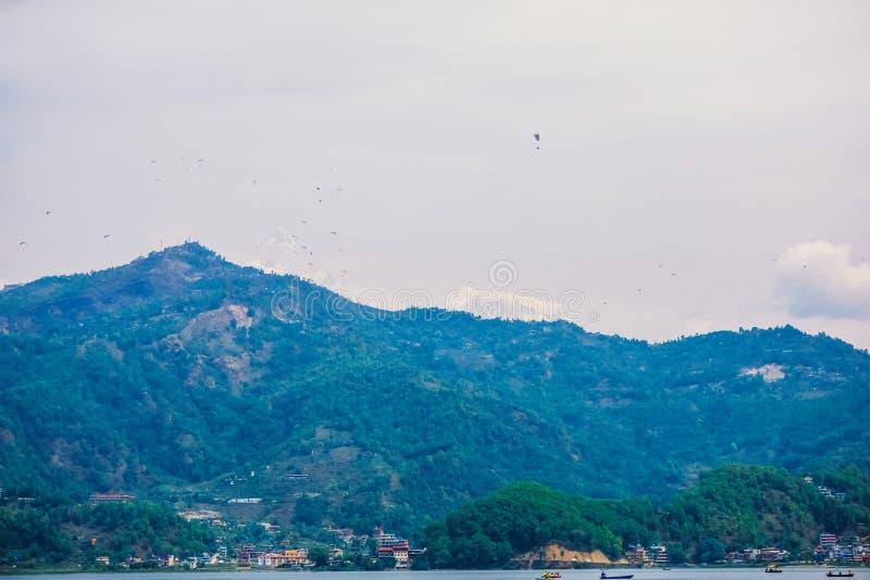 阿马Dablam晚上视图在途中的对珠穆琅玛营地-尼泊尔 免版税图库摄影
