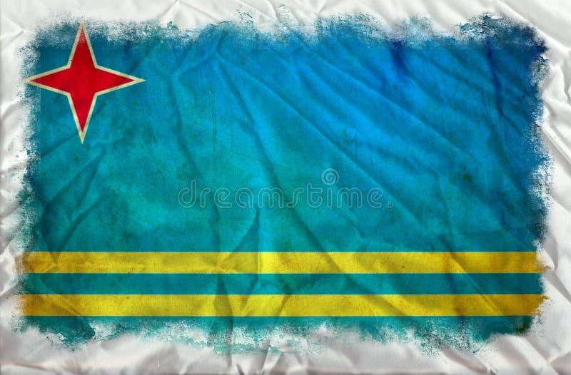 阿鲁巴难看的东西旗子 库存例证