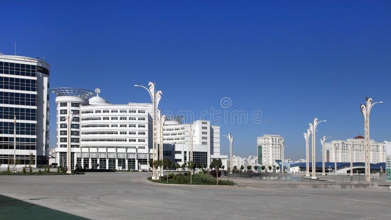 阿什伽巴特,土库曼斯坦- 2014年10月23日:奥运村(Ashg 免版税库存照片