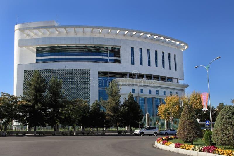 阿什伽巴特,土库曼斯坦- 2014年10月23日 新的医疗cente 图库摄影