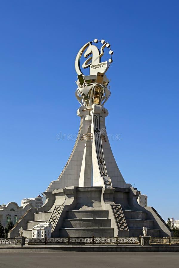 阿什伽巴特,土库曼斯坦- 2015年10月19日 纪念碑第5个亚洲人我 免版税图库摄影
