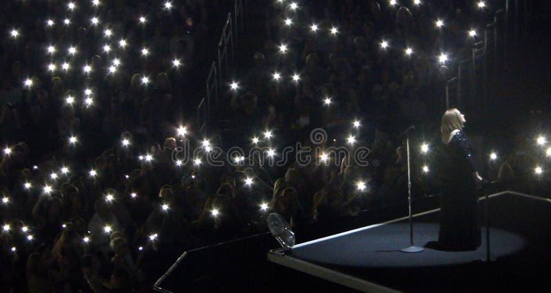 阿黛尔音乐会旅行在洛杉矶,加利福尼亚,美国 库存图片