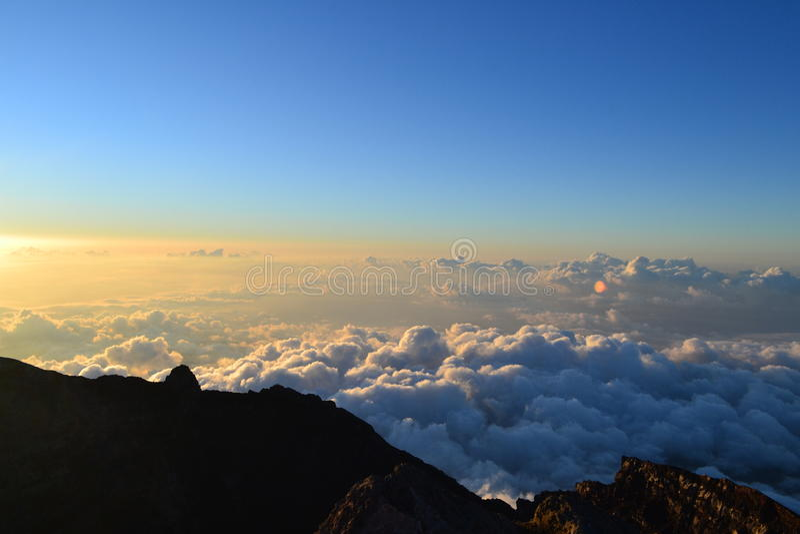 阿贡火山Gunung在巴厘岛,印度尼西亚 免版税库存图片