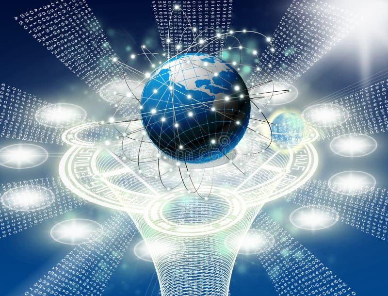 附上互联网塑造技术 皇族释放例证