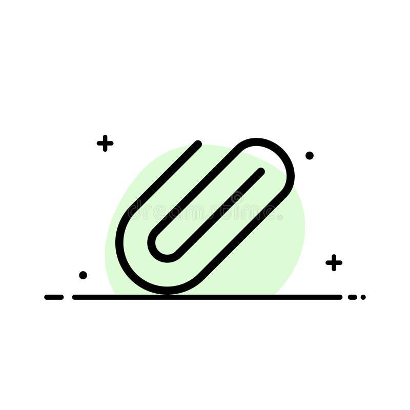 附件,附上,夹子,增加企业平的线被填装的象传染媒介横幅模板 向量例证