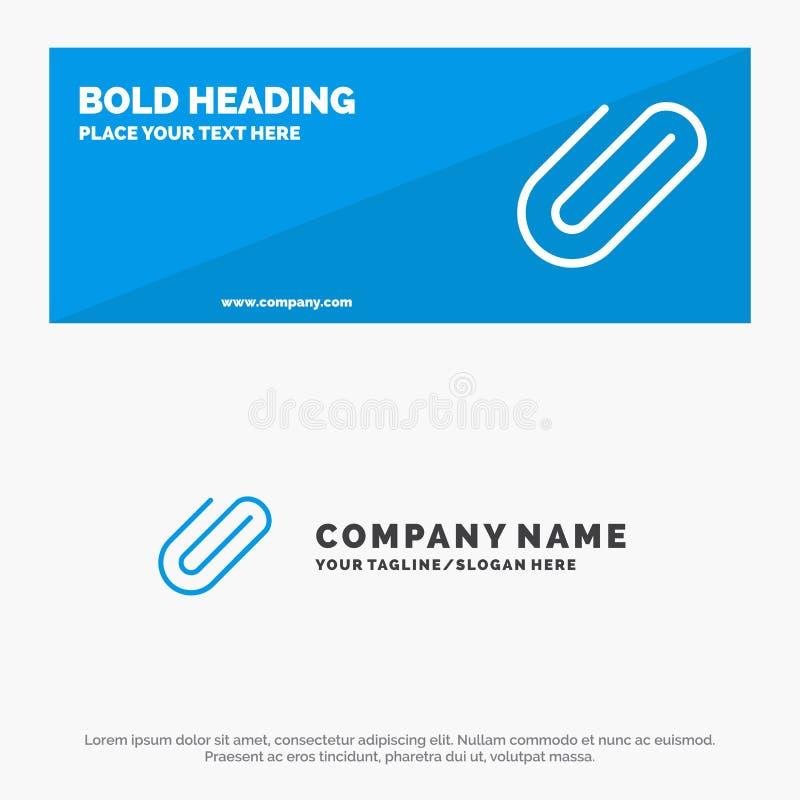 附件,附上,夹子,增加坚实象网站横幅和企业商标模板 向量例证