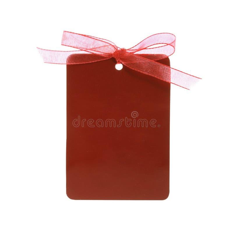 附加的剪报礼品路径红色丝带标签 图库摄影
