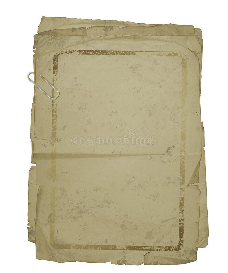 附加的夹子老纸页 向量例证