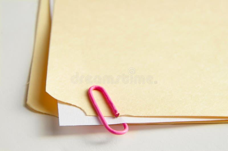 附加的纸张 免版税库存图片