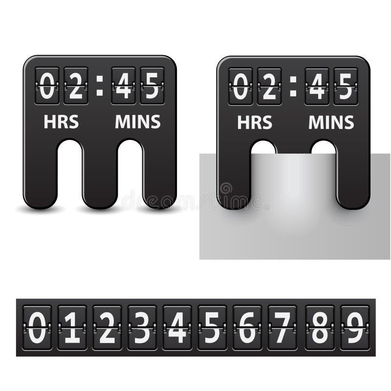 附加的读秒机械定时器 库存例证