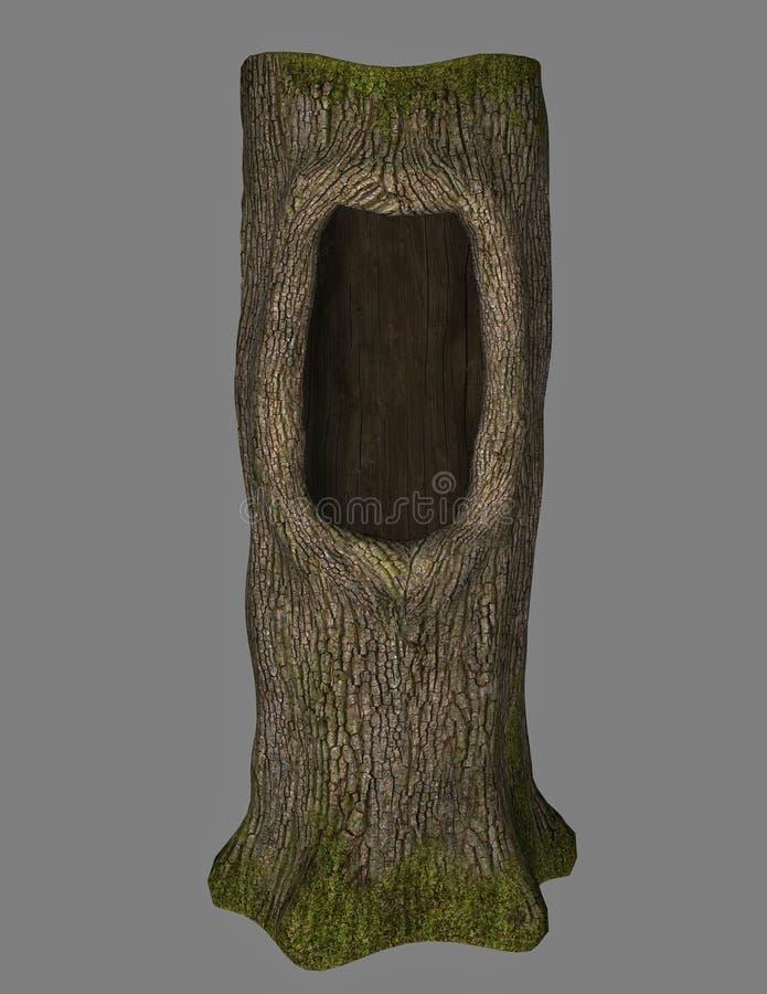 附加的eps10幻想文件树 向量例证