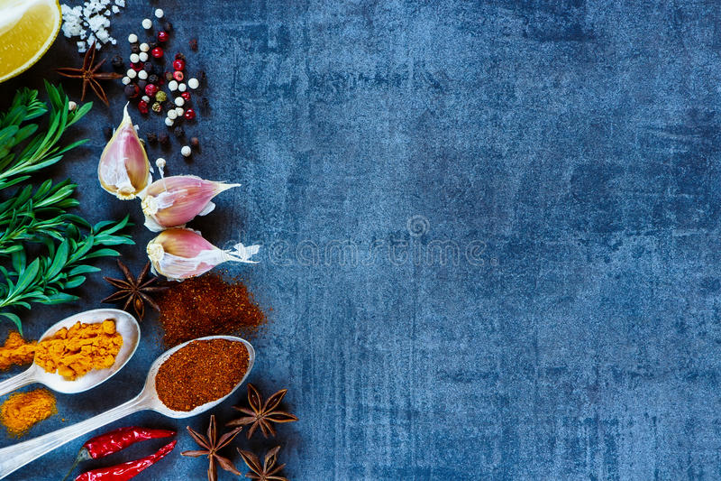 附加芳香烹调要素食物草本成份自然选择香料 库存图片