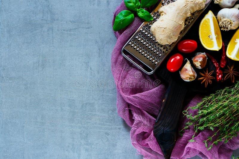 附加芳香烹调要素食物草本成份自然选择香料 库存照片