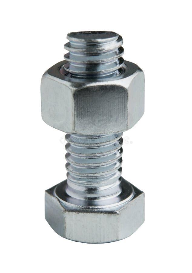 附属的螺栓螺母 免版税库存照片
