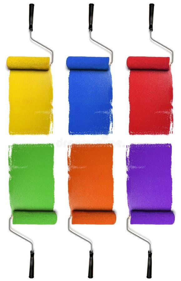 附属颜色主要的路辗 免版税图库摄影