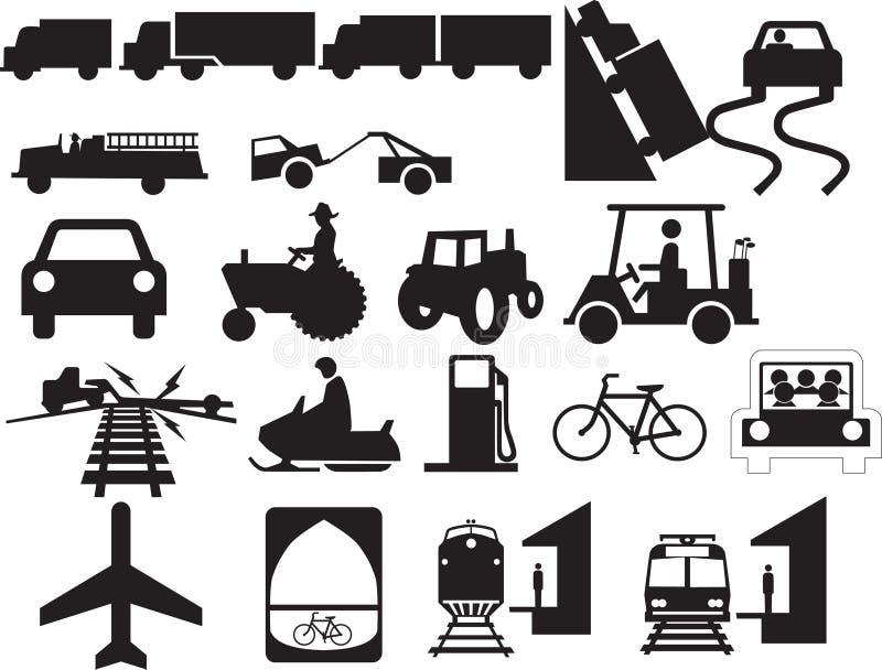 附录汽车结构符号交易 免版税库存图片