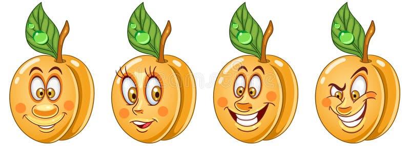 附录 食物Emoji意思号汇集 库存例证